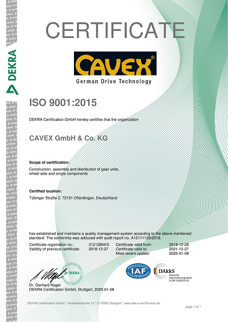 DIN ISO Certificate 9001:2015