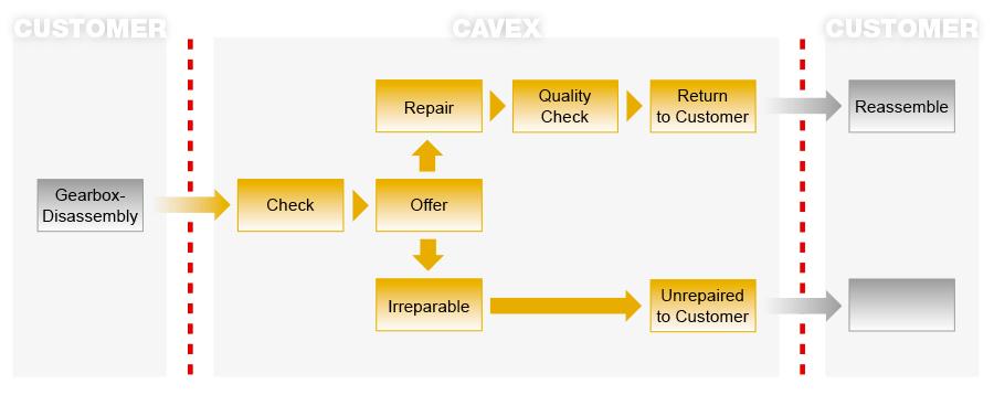 Diagram CAVEX® Service