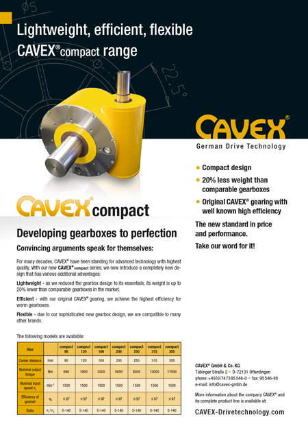 Data Sheet CAVEX®compact