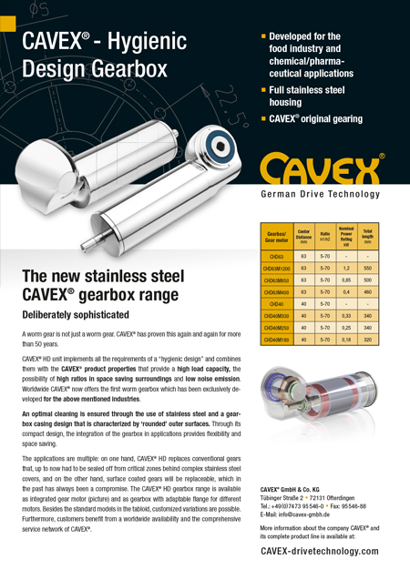 Data Sheet CAVEX®HD