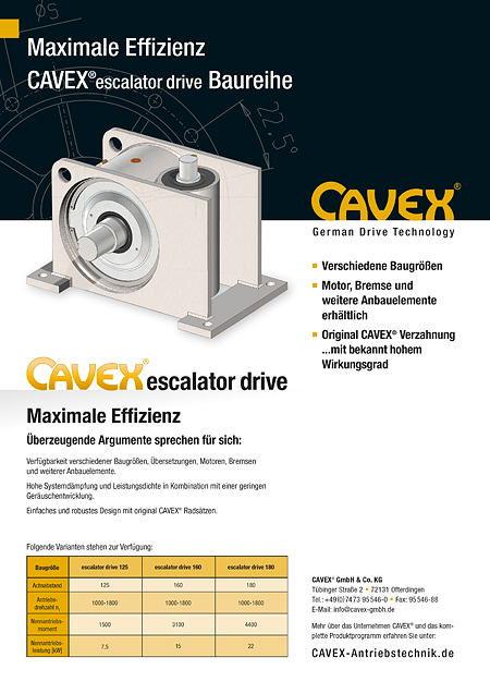 Datenblatt CAVEX®escalator drive