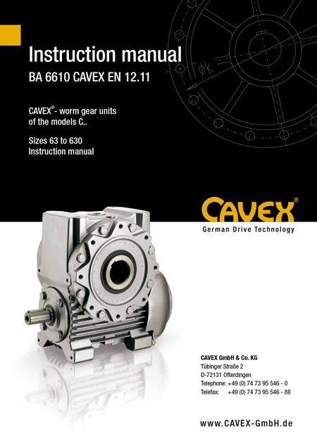 Operating Manual BA 6610 CAVEX DE 12.11