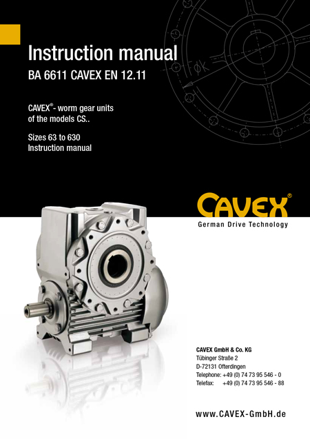 operating manuals cavex rh cavex gmbh com