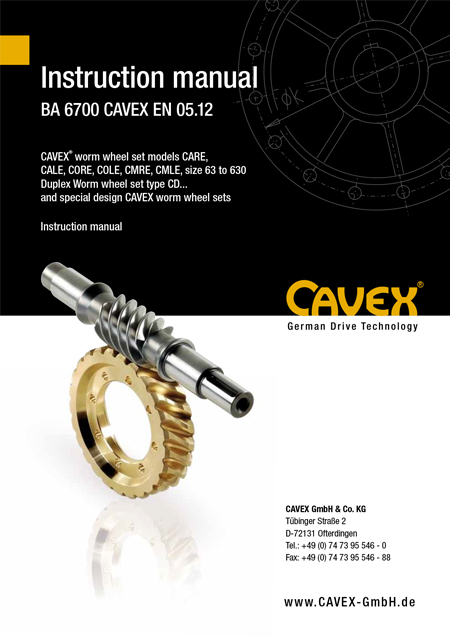 Operating Manual BA 6700 CAVEX DE 05.12